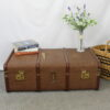 Flat Topped Steamer Trunk