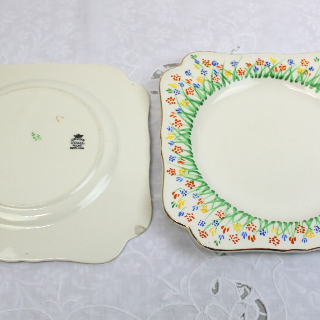 Hand PAinted 1920's Plates
